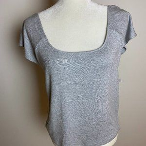 Chelsea28 gray ribbed shirt BNWT XLarge scoop neck